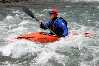 Paddling the Fly on the Hurunui.