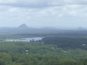 Lake MacDonald viewed from the top of Mt Tinbeerwah