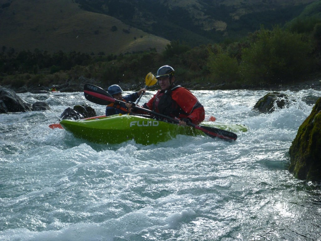 Matt, the trip leader, on one of the later rapids.