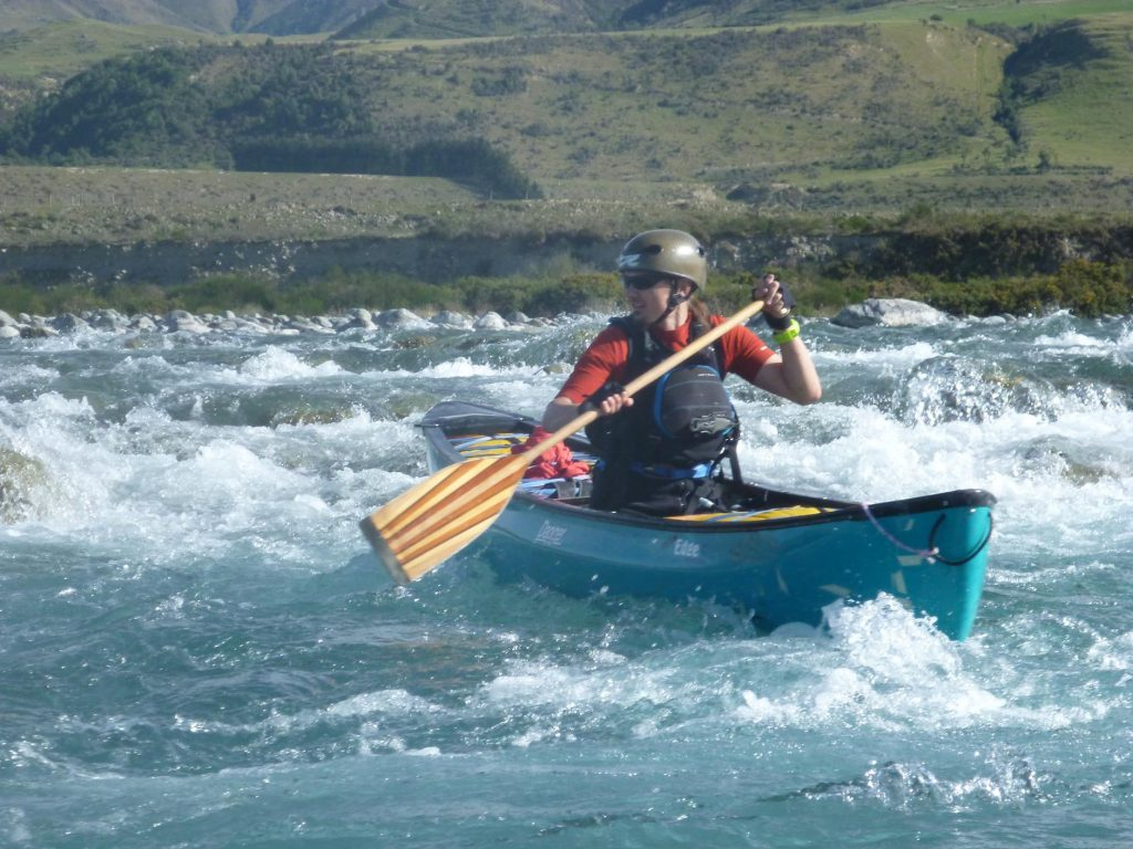 Matt S guides his open canoe down another rapid.
