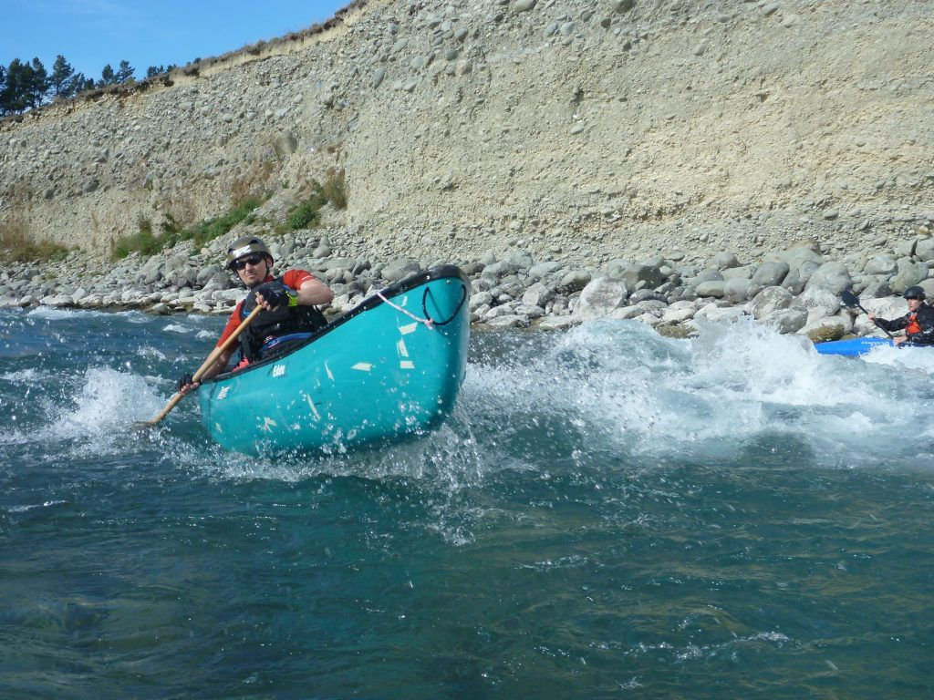 Matt S showing how it's done with half the paddle and twice the boat.