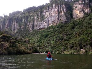 Lauri on the Pororari River near Punakaiki