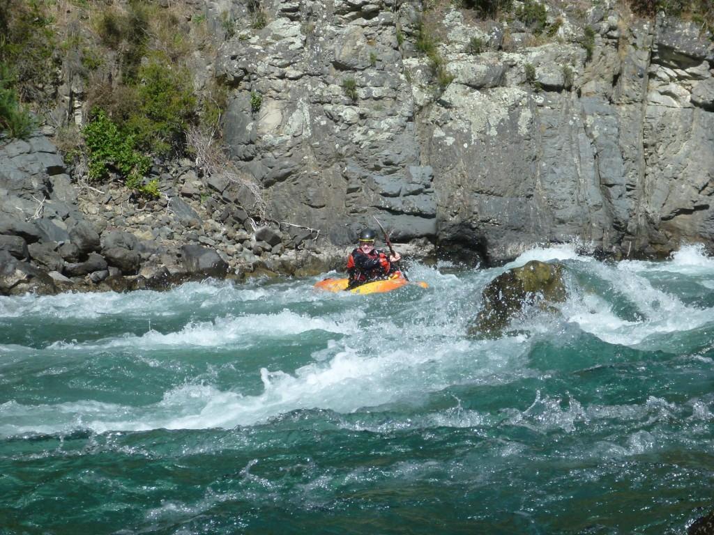Matt ferry glides across the flow.