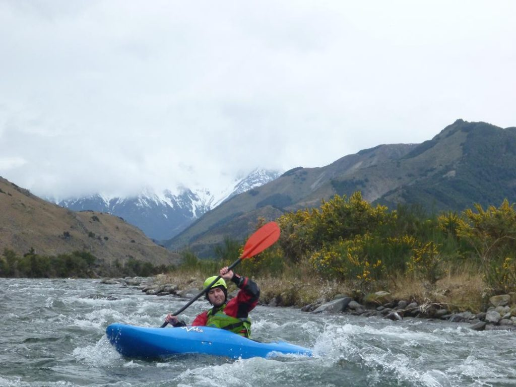 Still plenty of snow on the mountains but not too cold for a great day on the river.