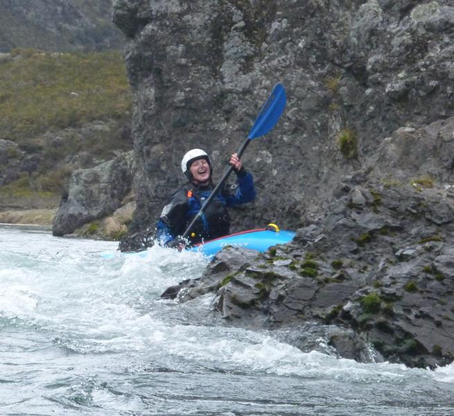 Happiness is a goal achieved. In this case catching the small elevated eddy on the face of the bluff above the South Branch confluence.