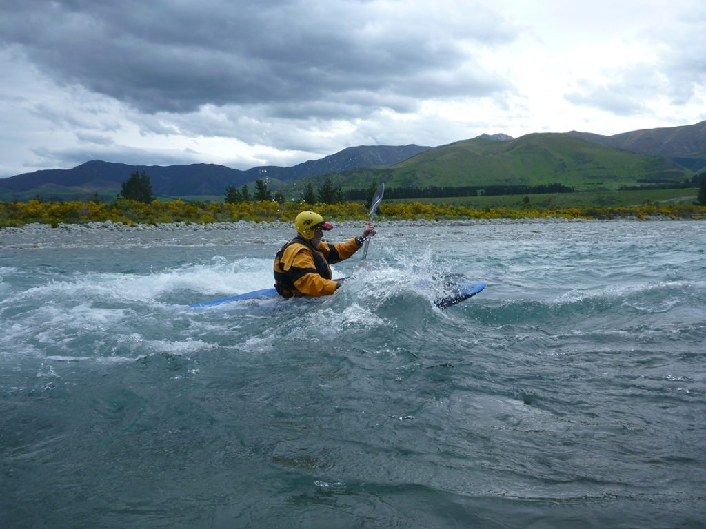 Our trip leader, Doug, having a surf.